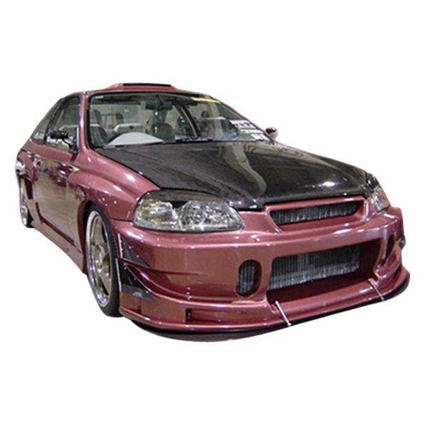 Honda Civic All 1999 2000 Bc Spec Style 1 Piece Polyurethane Front 1992 Spoiler Bumper