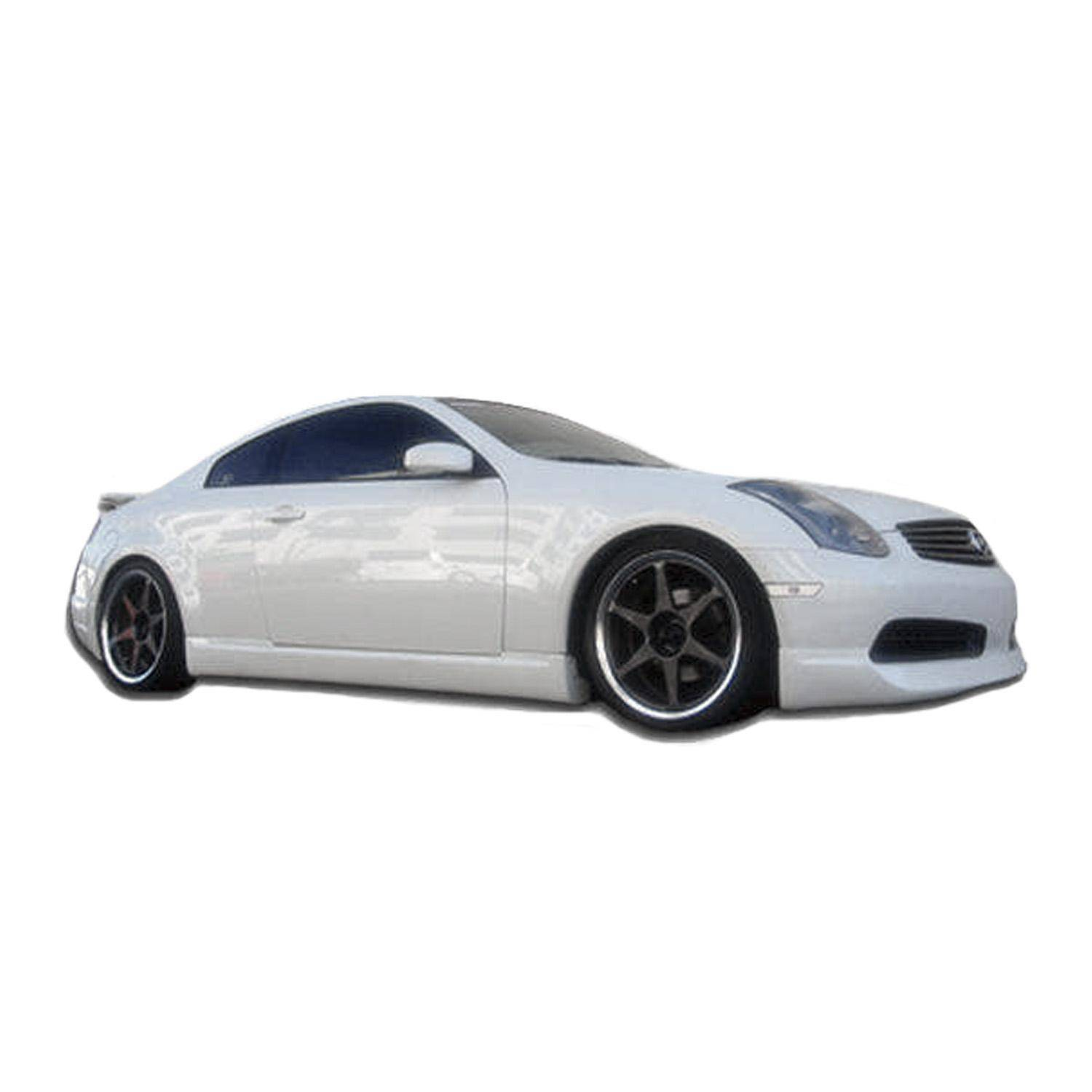 Infiniti G35 2DR Coupe 2003-2007 ING Style 2 Piece Polyurethane Side Skirts - Pair