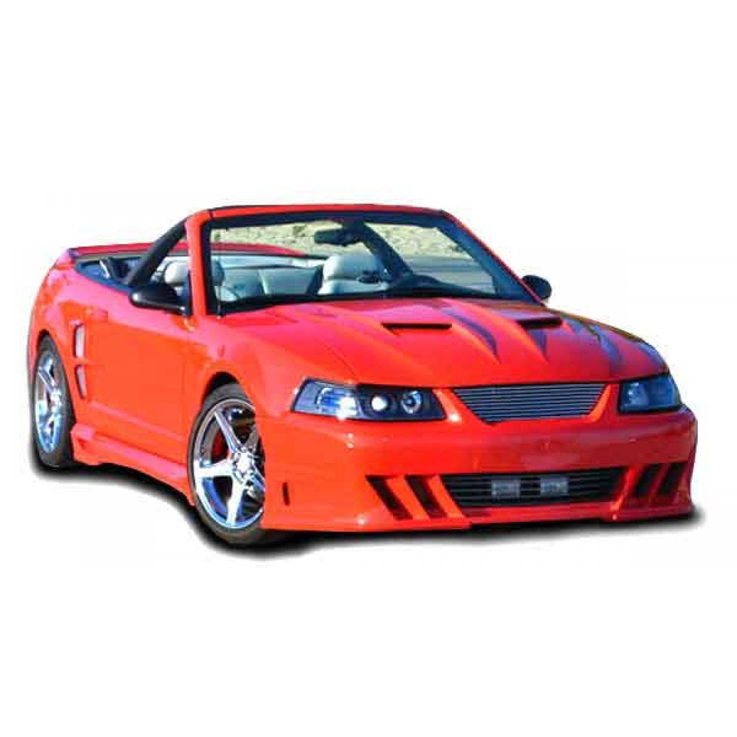 ford mustang 1999 2004 demon style 1 piece polyurethane front bumper. Black Bedroom Furniture Sets. Home Design Ideas
