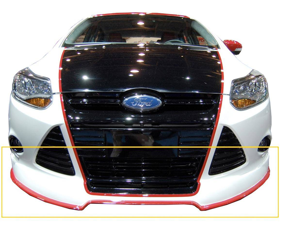 Ford focus 5dr sedan 2012 2014 bds style 1 piece polyurethane front lip ebay for 2012 ford focus exterior accessories