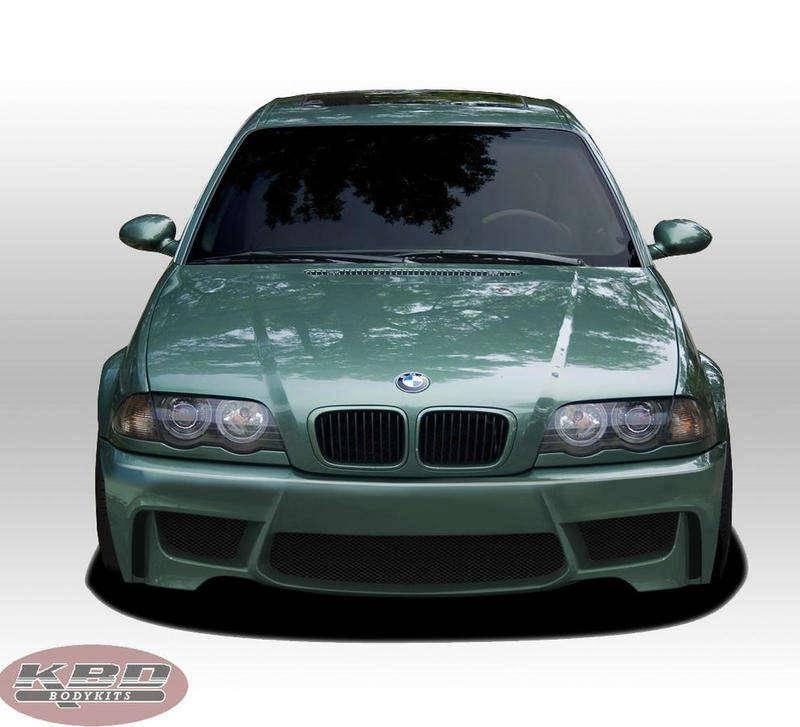 BMW 3 Series 1999-2006 1M Style 1 Piece Polyurethane Front Bumper